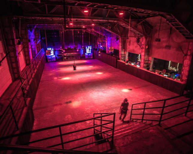 Le club Bassiani à Tbilissi.