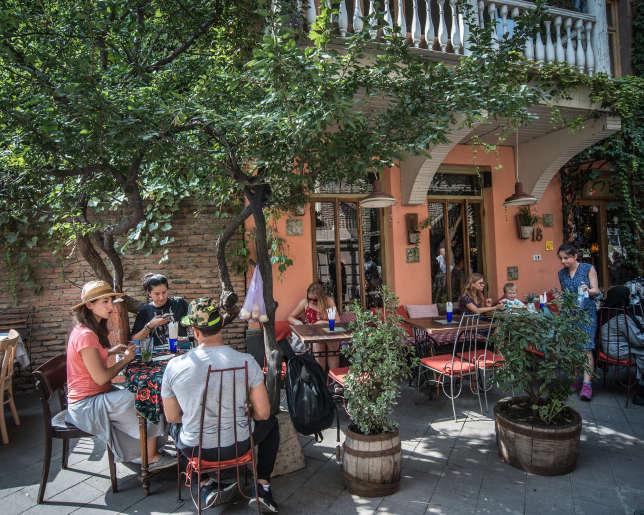 Le Café Leila, à Tbilissi.