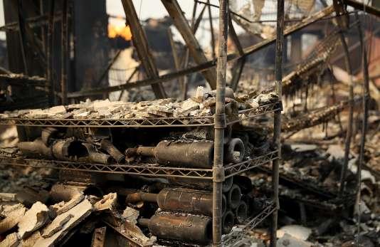 L'établissement viticoleSignorello Estateaprèsl'incendie dans la vallée de laNapa, en Californie, le 9 octobre 2017.