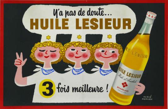 Affiche de Raymond Savignac pour Lesieur (années 1960).
