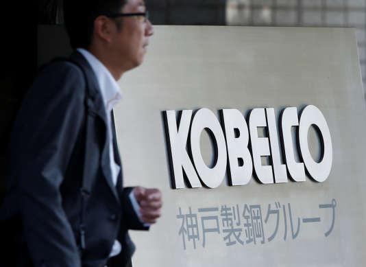 Au siège de Kobe Steel à Tokyo, au Japon, le 10 octobre.