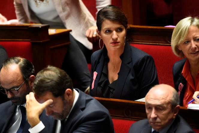 Marlène Schiappa, secrétaire d'Etat auprès du premier ministre, chargée de l'égalité entre les femmes et les hommes, le 10 octobre, à l'Assemblée.