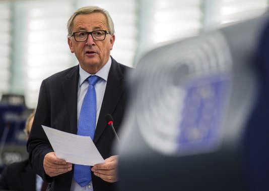 Le président de la Commission européenne, Jean-Claude Juncker, au Parlement de Strasbourg, le 3 octobre.