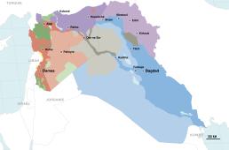 Carte des forces en présence Syrie-Irak septembre 2017.