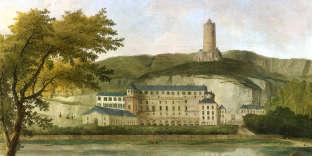 «Vue du château de Mme d'Enville», d'Hubert Robert, huile sur toile.