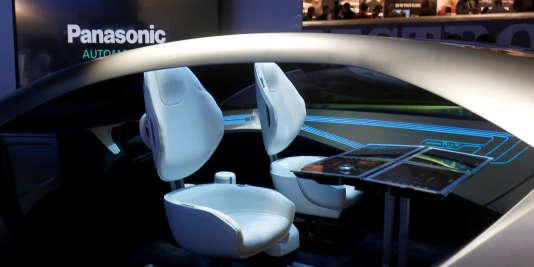 Une maquette de voiture autonome présentée au CES 2017 de Las Vegas.