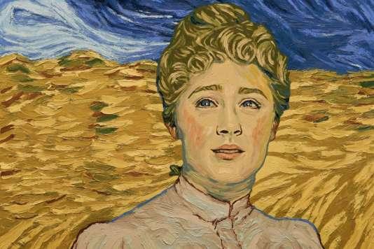 L'actriceSaoirse Ronan transportée dans les tableaux de Van Gogh dans le film d'animation polonais et britannique de Dorota Kobiela et Hugh Welchman,«La Passion Van Gogh» («Loving Vincent»).