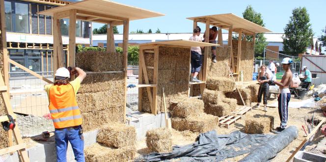 Le chantier de l'école des Boutours, à Rosny-Sous-Bois.