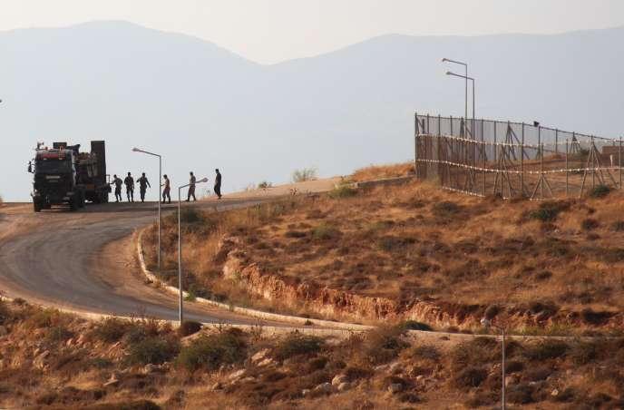 Des militaires turcs à la frontière avec la Syrie, le 11 octobre 2017.