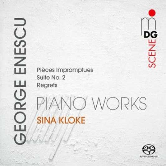 Pochette de l'album« George Enescu. Piano Works», par Sina Kloke.