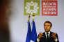 Emmanuel Macron, lors de son discours à Rungis, le 11 octobre.