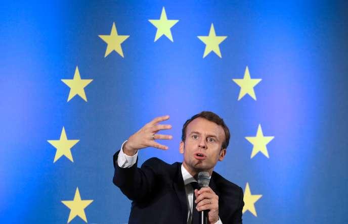 Emmanuel Macron, à Francfort, le 10 octobre.