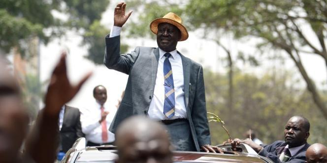 Raila Odinga, leader de la coalition d'opposition NASA le 1er septembre 2017 à Nairobi. Le 10 octobre, l'opposant au président Uhuru Kenyatta a annoncé le retrait de sa candidature pour la présidentielle du 26 ocotbre.