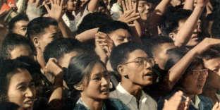 Rassemblement place Tien An Men, à Pékin, en août 1966, au début de la Révolution culturelle.