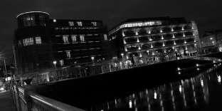 Cork, Irlande, la nuit.