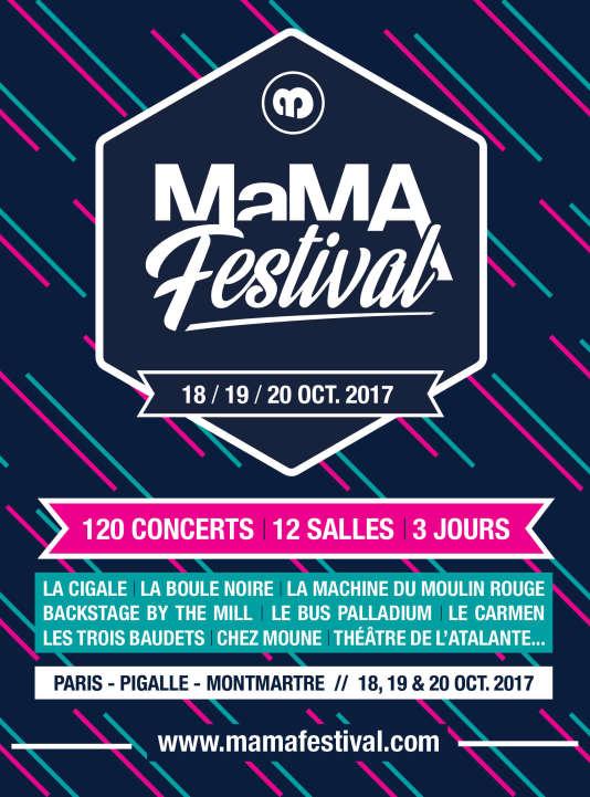 Affiche du MaMA Festival.