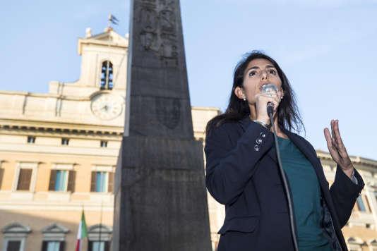 Virginia Raggi à Rome, le 12 octobre.