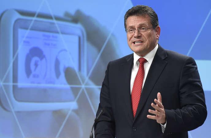 Le commissaire européen à l'énergie, Maros Sefcovic, à Bruxelles, en novembre 2016.