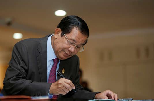 Hun Sen, le 12 octobre à l'Assemblée nationale.