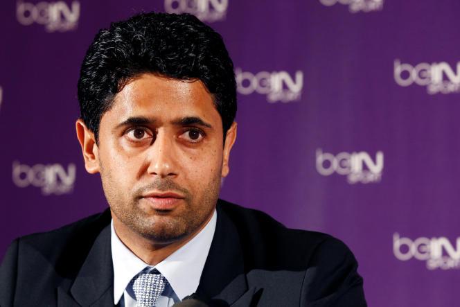 Nasser Al-Khelaïfi, directeur de la société BeIN Media et président du PSG, en 2012.