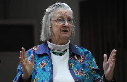 L'Américaine Elinor Ostrom (ici lors d'une conférence à New Delhi, en 2011), est la seule femme à avoir reçu le prix Nobel d'économie, en 2009.