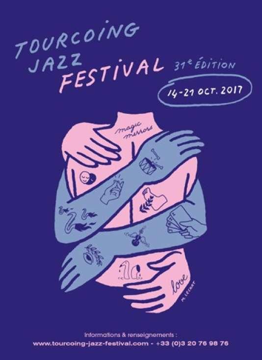 Affiche du Tourcoing Jazz Festival, organisé jusqu'au 21 octobre.