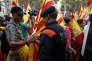 Des Mossos d'Esquadra, devant le Parlement régional, à Barcelone, le 10 octobre.
