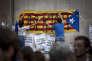 Militants independantistes à Lleida (Catalogne) le 21 septembre 2017.