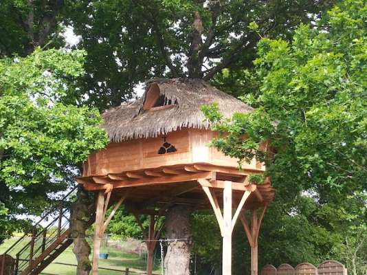 Ces cabanes sont des pied-à-terre ludiques pour partir à la découverte de la forêt du roi Arthur.