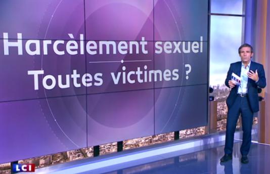 David Pujadas avait organisé mercredi un débat sur le thème «Harcèlement: toutes victimes», pour «L'Info en question», émission qu'il anime depuis la rentrée, chaque soir de 18h10 à 20heures sur LCI.