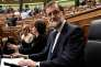 Le premier ministre espagnol, Mariano Rajoy, au Parlement de Madrid, le 11 octobre.
