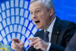 French Finance Minister Bruno Le Maire speaks during a Global Economy debate, in the sidelines of the World Bank/IMF Annual Meetings in Washington, Thursday, Oct. 12, 2017. ( AP Photo/Jose Luis Magana)