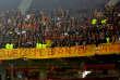 Des supporteurs de Lens lors du match face à Lille.