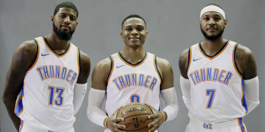 Paul George, Russell Westbrook et Carmelo Anthony forment un trio à fort potentiel.