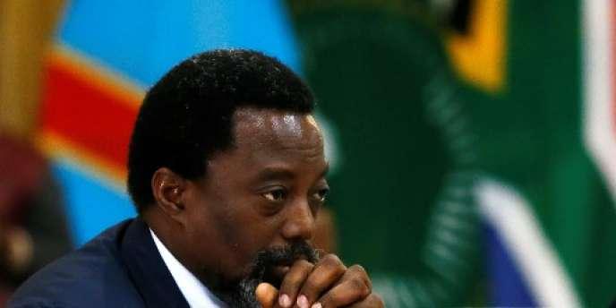 Joseph Kabila, président de la République démocratique du Congo, à Pretoria, en Afrique du Sud, en juin 2017.