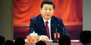 Le 10 octobre 2017, le président chinois Xi Jinping, lors d'une allocution vantant les progrès de son gouvernement.