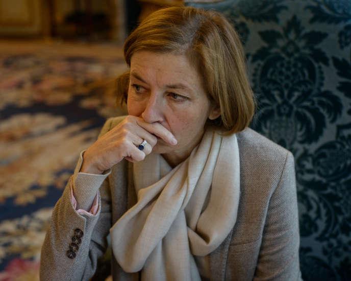 Florence Parly, ministre des armées du président Emmanuel Macron, durant l'interview avec «Le Monde».