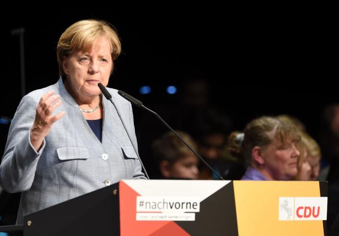 Angela Merkel le 15 octobre 2017.