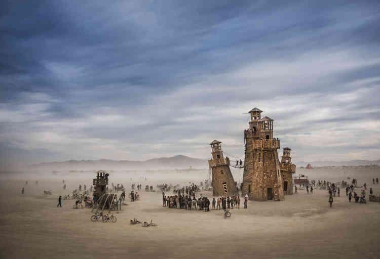 Un phare construit lors de Burning Man, un festival qui a lieu tous les ans dans le Nevada, aux Etats-Unis.
