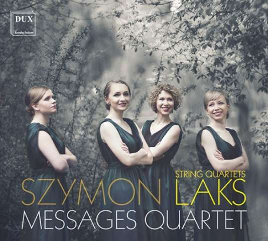 Pochette de l'album « Messages Quartet », de Szymon Laks.