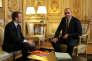 Laurent Berger (CFDT) et Emmanuel Macron, le 13octobre à l'Elysée.