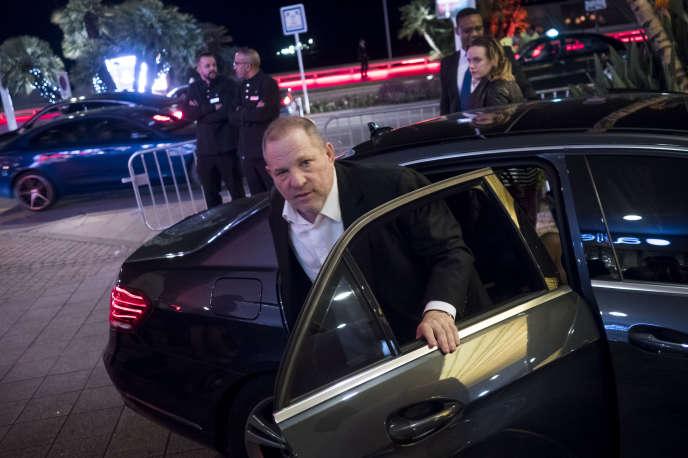 Harvey Weinstein à son arrivé à une soirée organisée lors du 69e Festival de Cannes, le 13 mai 2016.