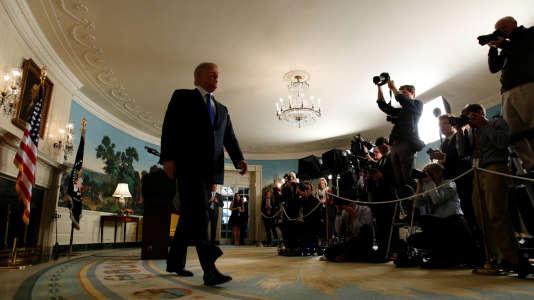 e président américain, Donald Trump, vendredi 13 octobre, à la Maison Blanche.