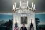 Donald Trump à la Maison Blanche, le 13 octobre 2017, lors de son discours sur le nucléaire iranien.