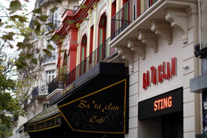 Le Bataclan le jour de sa rouveture, le 12novembre 2016, avec à l'affiche un concert de Sting.