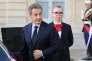 Nicolas Sarkozy quittant le palais de l'Elysée, le 15 septembre 2017.