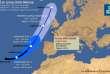 Prévision de la trajectoire d'Ophelia, selon Météo France.