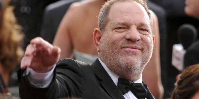 Harvey Weinstein, accusé d'agressions et de harcèlement sexuel, à la cérémonie des Oscars en 2015.