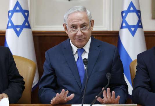 Le premier ministre israélien, Benyamin Nétanyahou, le 15 octobre.
