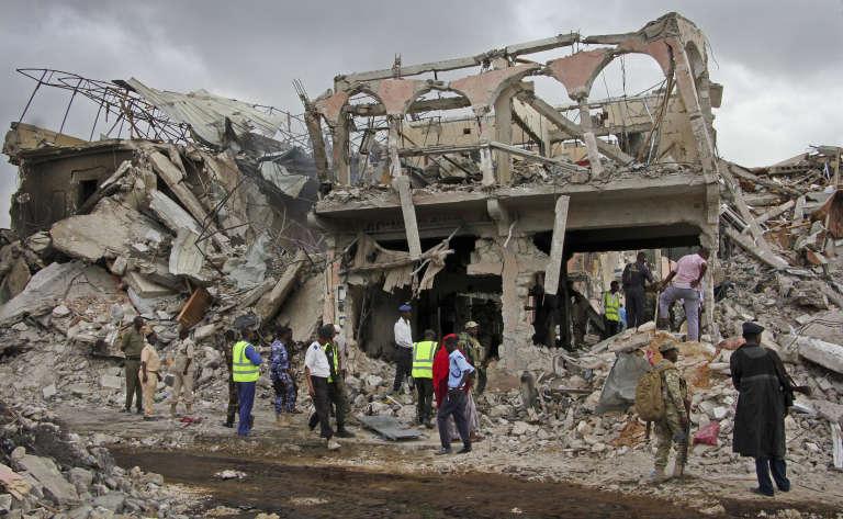L'explosion de samedi a détruit plusieurs bâtiments à Mogadiscio.